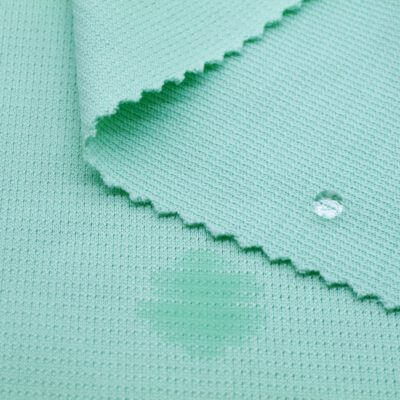 Polyester Wicking Sweat Stain Resistant Fabric