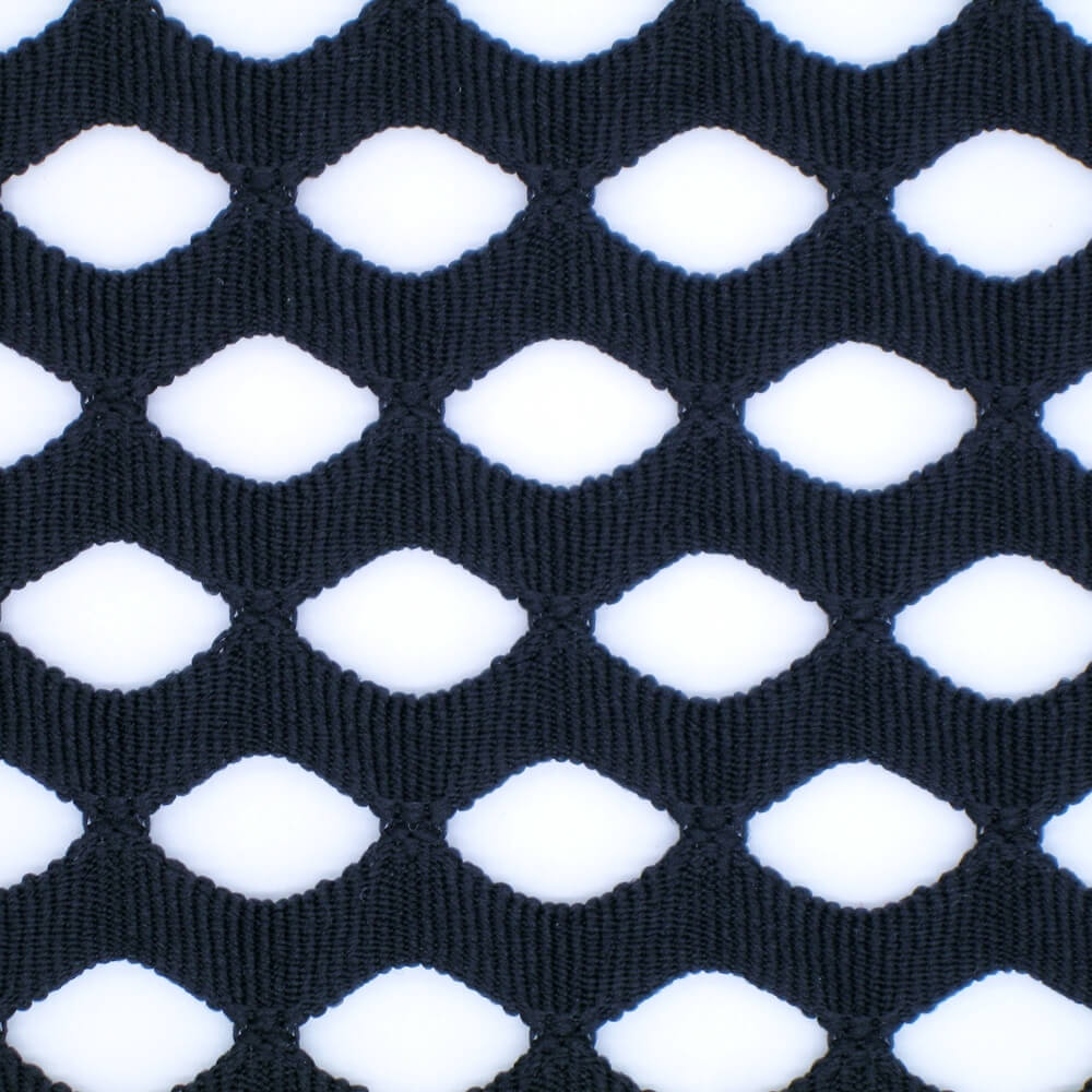 Polyester Big Diamond Jacquard Mesh Fabric