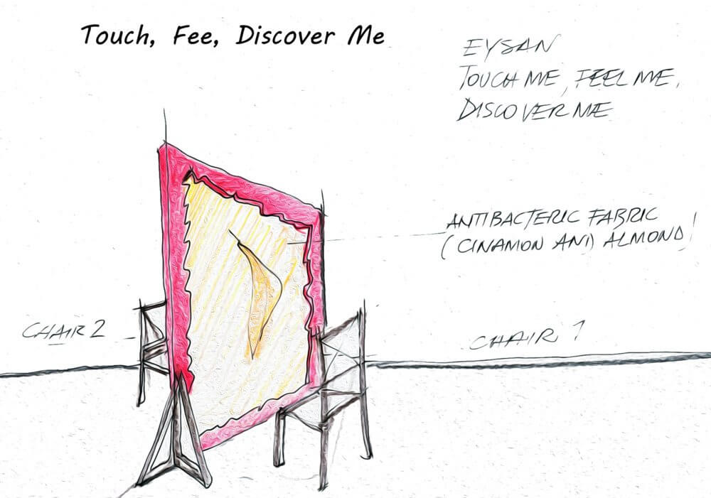 touch feel discover me - milan design week - Eysan fabric